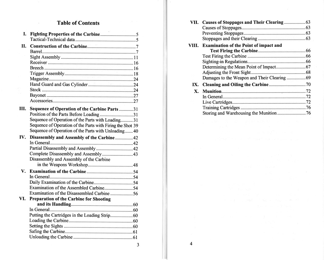 Original Cover Cover Contents Pages 38-39. SKS Repair Manual ...